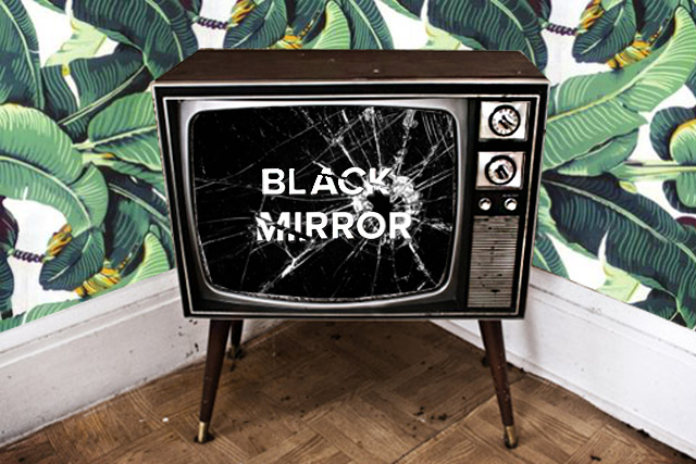 Black Mirror TV set