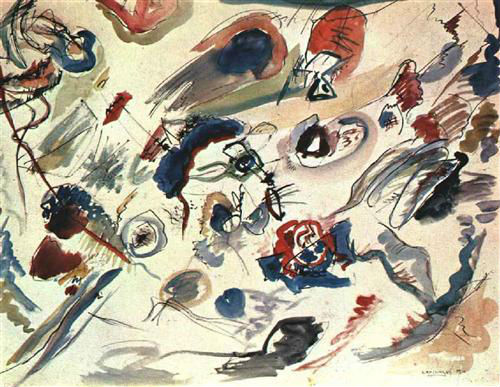 Umetnici o umetnosti First_abstract_watercolor_kandinsky_1910